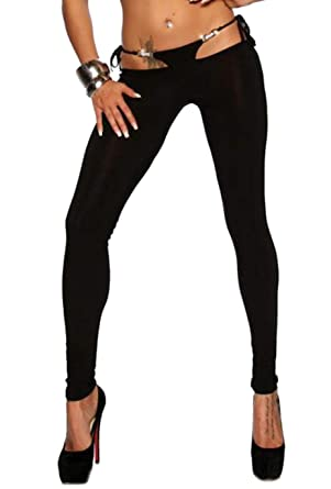 5ecc815088 SARESIA Hüft-Leggings Damen schwarz hautenge Hose tights  Amazon.de ...