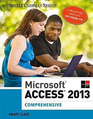 Microsoft Access 2013: Comprehensive (Shelly Cashman) Pdf