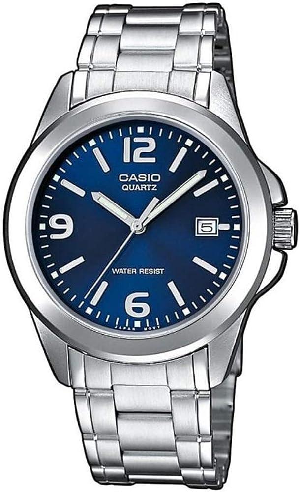 Casio Collection  MTP-1259PD-2A, Reloj para Hombre, Acero Inoxidable, Azul