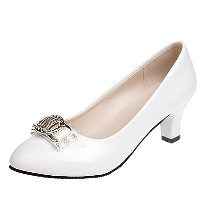 Btruely Zapatos de Mujer❤️Zapatos del Tobillo Moda Mujer Casual Punta Redonda de Cristal Zapatillas