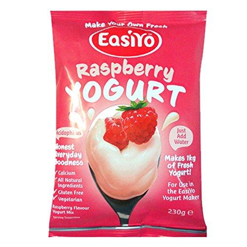 Easiyo Sweet Raspberry Yogurt Base and Culture, 8-Ounce