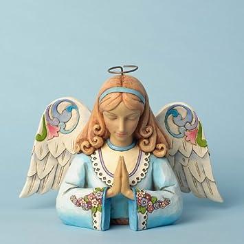 Enesco Jim Shore Heartwood Creek Angel Praying Figurine, 5.75-Inch