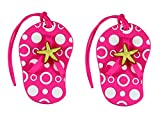 Pink Beach Themed Flip Flop Luggage Tags (Set of 2)