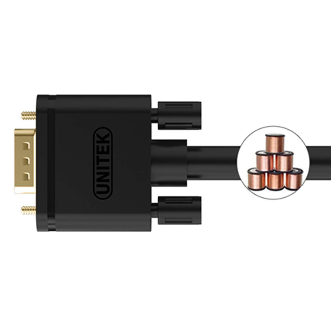 Unitek VGA 10m Kabel Displays Y-C506G Hdtvs kompatibel f/ür Projektoren 1080P VGA//SVGA Video Monitor coaxial Verl/ängerungskabel HD mit 2 ferritfilter//vergoldeten Kontakte//15-polig HD Stecker