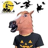 VIVREAL Halloween Head Mask - Horse Head Mask for