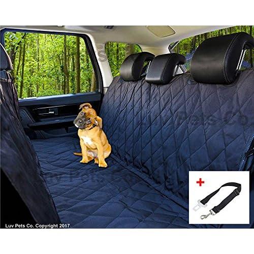 Luv Pets Co. Luxe Hamac de voyage pour Chien - Couverture pour sièges auto - Protection des sièges arrières - Matériaux robustes et résistants à l'eau - Rabats latéraux pour un high-quality