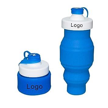 Xixik Botella Plegable 520 ML Silicona caño Seguro Fácil almacenar Agua Botella Deportes Botella Botella Deportes