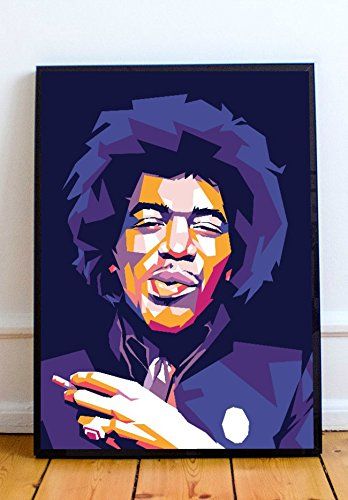 Abstract Art Prints Jimi Hendrix Limited Poster ()