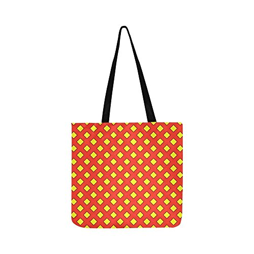 Pattern Yellow Red Squares Superman Design Canvas Tote Handbag Shoulder Bag Crossbody Bags Purses For Men And Women Shopping Tote ()