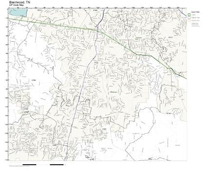 Amazon.com: ZIP Code Wall Map of Brentwood, TN ZIP Code Map