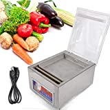 Vacuum Sealer Machine?Commercial Kitchen Food Chamber Tabletop Seal Vacuum Packaging Machine Sealer 110V (US Stock)
