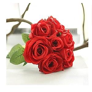 Heads Orchid 9Pcs/Set Rose Flowers Bouquet Thai Royal Rose Upscale Artificial Flowers Faux Silk Flower Roses Home Decor G 18