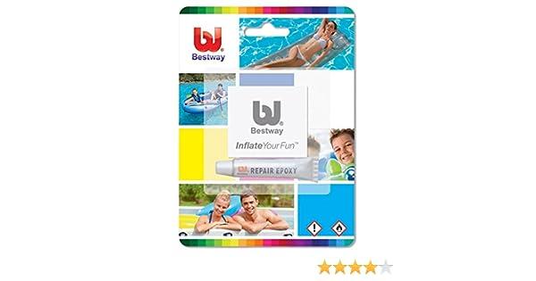 Kit de reparación Bestway para colchones de aire inflables , juguetes, piscinas, etc Lilos # 62022: Amazon.es: Deportes y aire libre