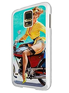 673 - Vintage Pin up Girl SexyDesign For Samsung Galaxy S5 Mini Fashion Trend CASE Back COVER Plastic&Thin Metal