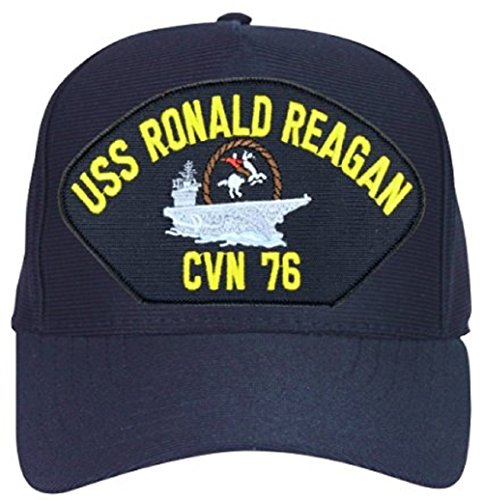 Ronald Reagan Baseball - USS Ronald Reagan CVN-76 with Cowboy Ball Cap Hat