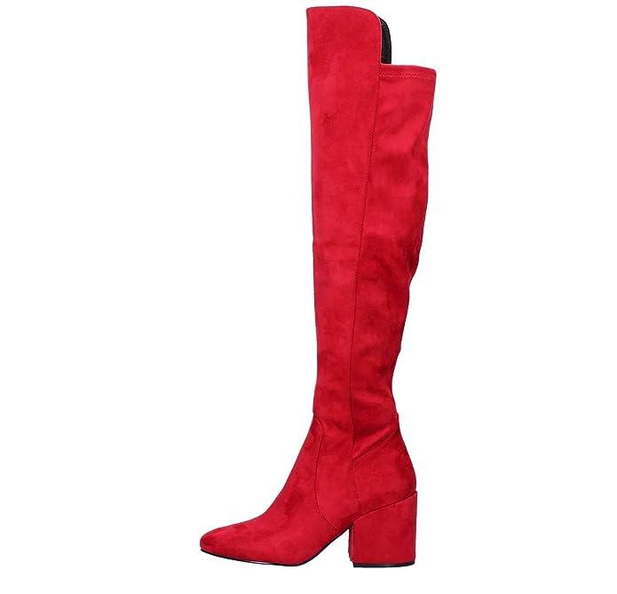 Zapatos Mujer Botas Botines Cafenoir Hb942 Rojo 36: Amazon ...