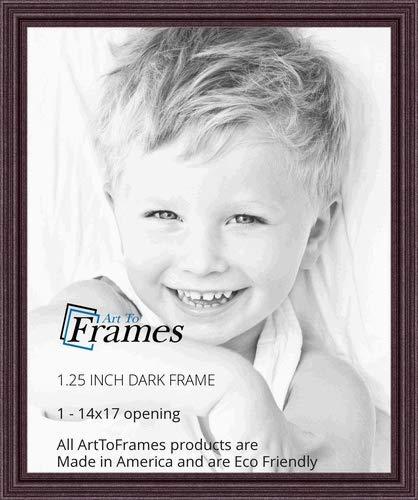 Amazoncom Arttoframes 14x17 Inch Dark Cherry Stain Wood Picture