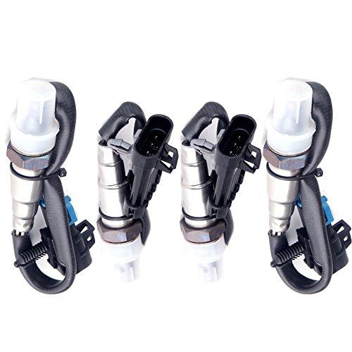 ECCPP Oxygen Sensors Upstream+Downstream O2 Sensors Fits 234-4018 234-4012 for 1996-1998 Chevrolet/Chevy/GMC C/K1500 4PCS (Sensor Oxygen C1500)