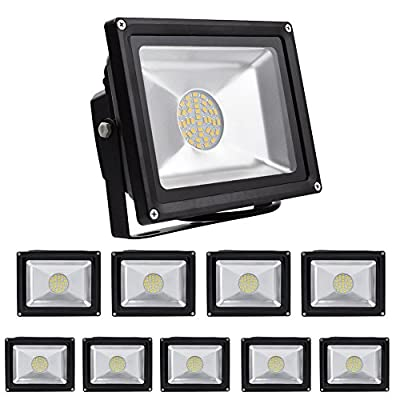 10 packs of 30W SMD LED IP65 Waterproof Floodlights FloodLights Outdoor & Indoor.Warm White.