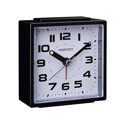 FAMICOZY Small Alarm Clock,Quiet Non Ticking with Snooze, used for sale  Delivered anywhere in USA