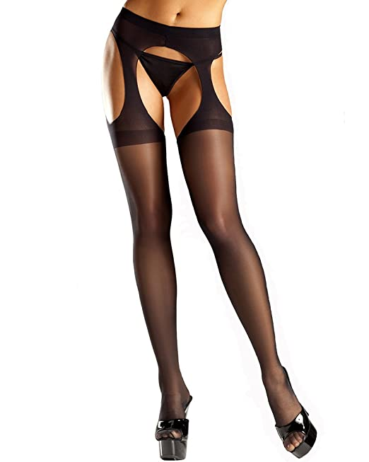 1fa1f61c102 Be Wicked Women s Sheer Suspender Tights
