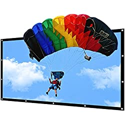 Portable Projector Screen Indoor Outdoor Lightweight Folding Movies Screen Wrinkle Free 100 inch HD Projection Screen 3D Rear Front