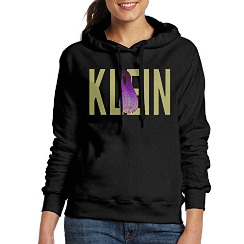 FUOCGH Women's Pullover Klein Bottle Hoodie Sweatshirts Black XL