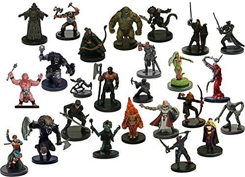 Dungeons and Dragons 25 Assorted D&d Miniatures Figures for sale  Delivered anywhere in USA