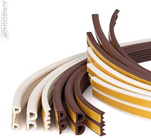 selbstklebende Fensterdichtung T/ürdichtung Gummi Profil Farbe: Wei/ß L/änge: 90 m STEIGNER Gummidichtung P-Profil