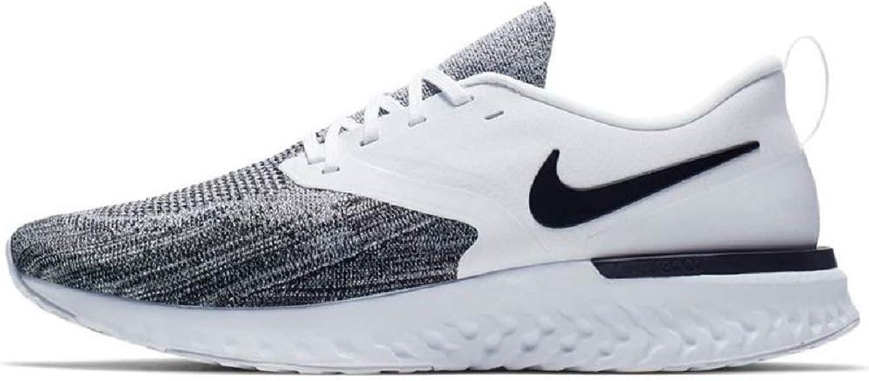 46488fbb2dba2 Amazon.com   Nike Odyssey React 2 Flyknit (6 B) White/Black   Running