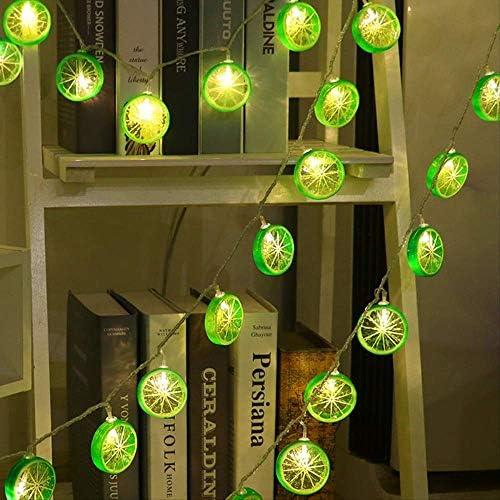 No brand Zitrone Led Lichterkette Girlande Weihnachten Lichterketten Dekoration Für Party Schlafzimmer Beleuchtung 220 V 5 Mt 20 Lampen Warmweiß