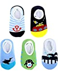: Blulu 5 Pairs Baby Socks Anti Slip Skid Socks for 8-36 Months Infants and Toddlers