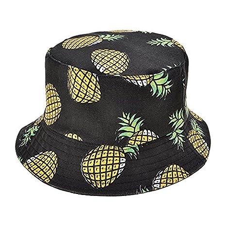 WeiMay Estivo Cappello da Donna con stampatoa Motivo di Frutta Cotone  Bucket Hat Cappello da Pescatore 5a8239939d1a