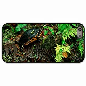 iPhone 5 5S Black Hardshell Case turtle grass leaves sith Desin Images Protector Back Cover