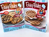 Easy Bake 2 Pk Combo S'mores Snacks, Fudgy Chocolate Chip Cookie Mixes