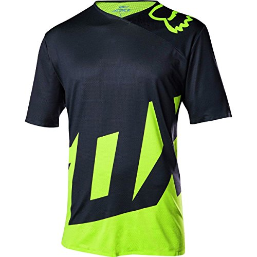 Fox Attack Jersey - FLO YELLOW/NAVY, LARGE