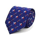 Men's I Love Texas State Flag Necktie Tie Neckwear (Blue)
