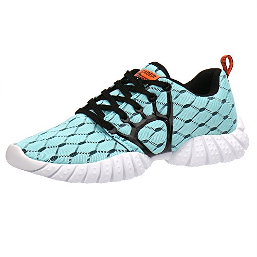 ALEADER Men's Mesh Cross-Traning Running Shoes Light Blue 12 D(M) US
