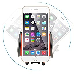 Ipow Universal Smartphone Car Air Vent Mount Holder Cradle With A Quick Release Button For iPhone 6 6+ 6S Plus 7 Plus 5S,iPod Touch,Samsung Galaxy S7 S6 S5 S4/3,Nexus,LG G3,HTC