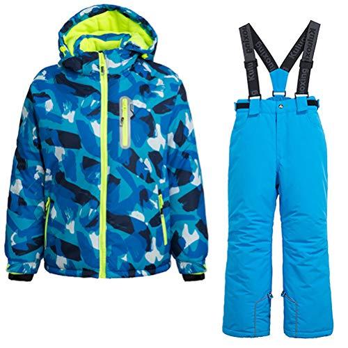 Skijakkeset Youth Girls Boys Snow Suit 2Pcs Winter Warm Outdoor Mountain Waterproof Windproof Snowboarding Skiing Jackets with Snow Ski Bib Pants US ()
