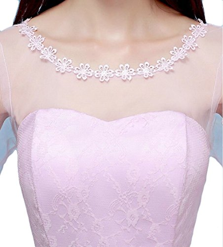 1 Jaycargogo Party Dress Elegant Prom Midi Bridesmaid Dress Women Floral Lace BBUvrq
