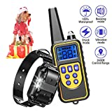 FUNSHION Shock Collar Dogs 2600 FT Rechargeable 100% IPX7 Waterproof Dog Shock Collar Remote Small Medium Large Dog Training Collar Vibration Beep Shock LED Light Modes Shock Collar Review