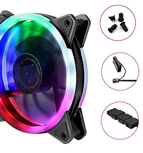 upHere Computer Fan 120mm LED Fan for Computer Cases, Coolers, Radiators Ultra Quiet,Triple Case Fan