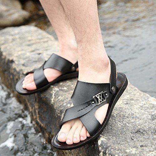 Sommer Das neue Männer Strand Schuh Faser Männer Sandalen Mode Atmungsaktiv Freizeit Männer Schuh ,schwarz,US=6.5,UK=6,EU=39 1/3,CN=39