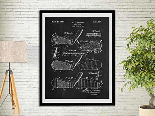 Golf Club Patent Art Print Golf Gifts For Men Office Decor Sports Wall Art Print Golf Club Wall Decor Home Decor Wall Hanging