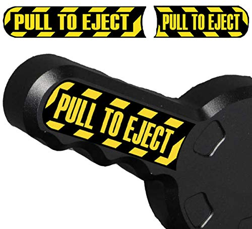 Gulf Coast Decals Pair of Pull to Eject Seat Handle Jeep Wrangler Vinyl Decal Sticker Set JK TJ CJ