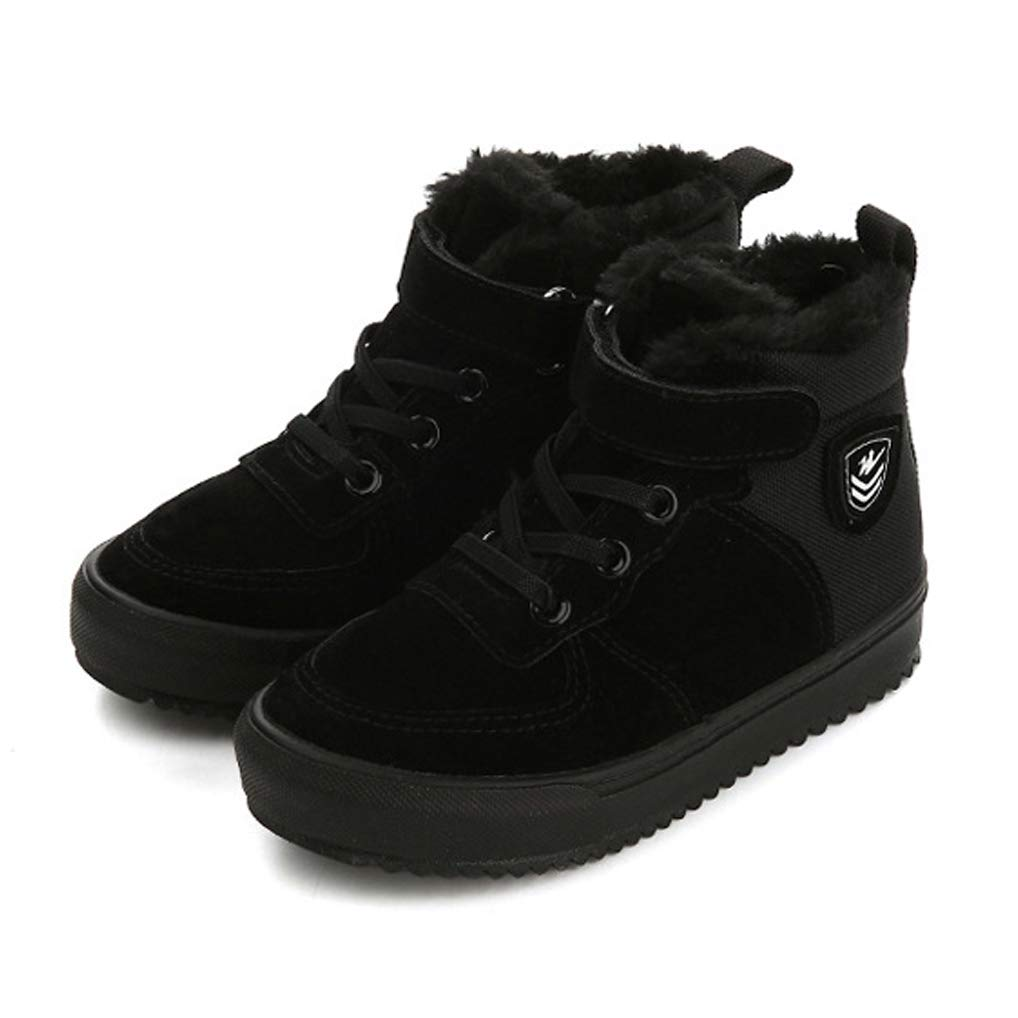 KVbaby Boys Girls Winter Snow Boots Fur Lined Warm Anti-Skid Outdoor Ankle Boots