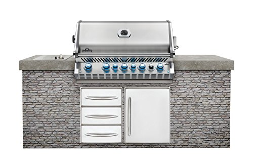Napoleon Grills Built-in Prestige PRO 665 with Infrared Rear Burner Stainless Steel Natural Gas - Islands Bbq