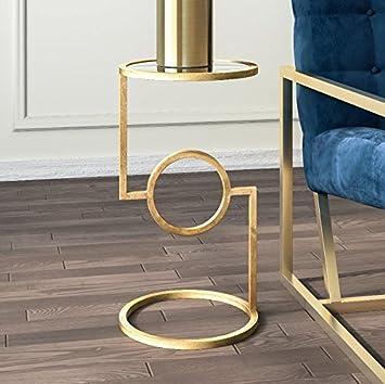 Gold Metall Beistelltisch klein Wohnzimmer Konsole Möbel ...
