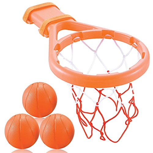 3 Bees & Me Bath Toy Basketball Hoop and Balls Boys and Girls-Kid and Toddler Toys Gift Set